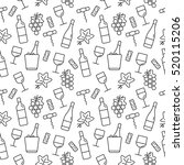 seamless pattern with wine... | Shutterstock .eps vector #520115206