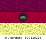 seamless pattern with wine... | Shutterstock .eps vector #520115296