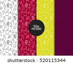 seamless pattern with wine... | Shutterstock .eps vector #520115344