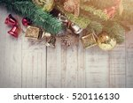 christmas decorations on... | Shutterstock . vector #520116130