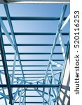 structure of steel roof frame... | Shutterstock . vector #520116253