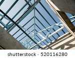 structure of steel roof frame... | Shutterstock . vector #520116280