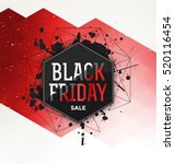black friday sale typographic... | Shutterstock .eps vector #520116454