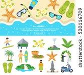 concept bali travel beach... | Shutterstock . vector #520116709