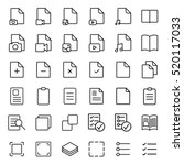 simple document thin line icons ... | Shutterstock .eps vector #520117033