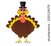 turkey pilgrimin hat on... | Shutterstock . vector #520119070