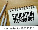 education technology text... | Shutterstock . vector #520119418