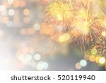 fireworks at new year and copy... | Shutterstock . vector #520119940