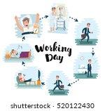 vector cartoon illustration of... | Shutterstock .eps vector #520122430