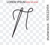 line icon   needle | Shutterstock .eps vector #520122454