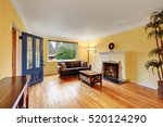 cozy living room interior with... | Shutterstock . vector #520124290