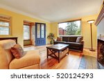 cozy living room interior with... | Shutterstock . vector #520124293