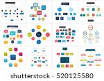 mega set of various  flowcharts ... | Shutterstock .eps vector #520125580