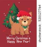 dog yorkshire terrier. puppy...   Shutterstock .eps vector #520127764