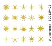 vector illustration of golden... | Shutterstock .eps vector #520129423