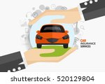 car insurance business service. ... | Shutterstock .eps vector #520129804