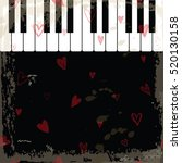 music event piano template.... | Shutterstock .eps vector #520130158