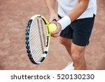 cropped portrait of tennis... | Shutterstock . vector #520130230