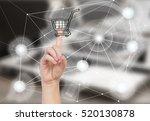 mobile shopping concept  ... | Shutterstock . vector #520130878