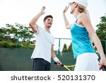 Happy Tennis Players. From...