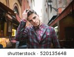 young man portrait in the old... | Shutterstock . vector #520135648