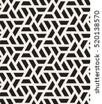 Vector seamless pattern. Modern stylish texture. Repeating geometric tiles with halves of hexagons. Contemporary graphic design. Trendy hipster monochrome print. | Shutterstock vector #520138570