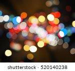 Night City Street Lights Bokeh...