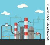 industry factory flat style... | Shutterstock .eps vector #520140940