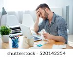 sick businessman with... | Shutterstock . vector #520142254