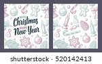 seamless pattern for merry...   Shutterstock .eps vector #520142413