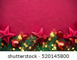christmas background with xmas... | Shutterstock . vector #520145800