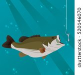 fishing concept  fish taking a... | Shutterstock .eps vector #520146070