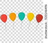 ballons set | Shutterstock .eps vector #520146496
