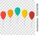 ballons set   Shutterstock .eps vector #520146508