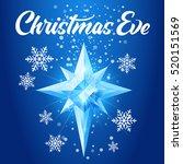 christmas eve text. shining... | Shutterstock .eps vector #520151569