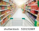 shopping cart in supermarket. | Shutterstock . vector #520152889