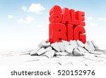 red big sale sign breaking... | Shutterstock . vector #520152976