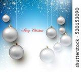 elegant shiny christmas... | Shutterstock .eps vector #520153090
