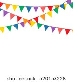 colorful bunting party... | Shutterstock .eps vector #520153228