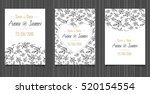 modern wedding invitation with... | Shutterstock .eps vector #520154554