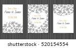 modern wedding invitation with... | Shutterstock .eps vector #520154554