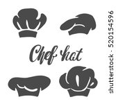 chef hat silhouette isolated...   Shutterstock .eps vector #520154596