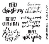 merry christmas and happy new... | Shutterstock .eps vector #520154644