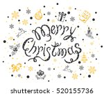 holiday lettering with black...   Shutterstock .eps vector #520155736