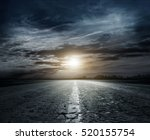 country road at night with... | Shutterstock . vector #520155754
