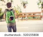 young student man in campus | Shutterstock . vector #520155808