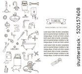 hand drawn doodle plumbing... | Shutterstock .eps vector #520157608