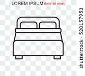 line icon   bed | Shutterstock .eps vector #520157953