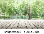 empty wooden table with party... | Shutterstock . vector #520158406