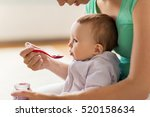 family  food  child  eating and ... | Shutterstock . vector #520158634
